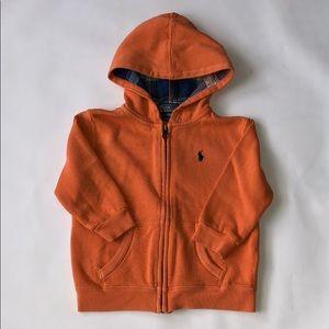 Polo Ralph Lauren Hooded Zipped Cotton Sweatshirt
